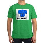 Nathaniel Puppy Dog Gift Men's Fitted T-Shirt (dar