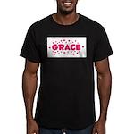 Grace Men's Fitted T-Shirt (dark)