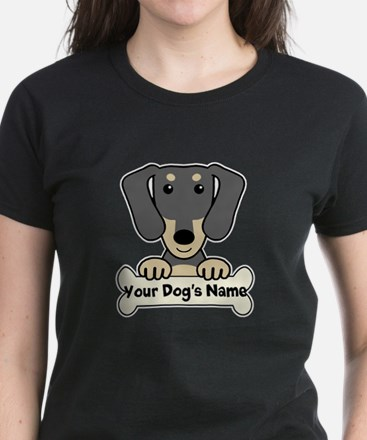 Personalized Dachshund Women's Dark T-Shirt
