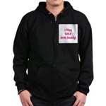 I Play Golf With Daddy! (pink Zip Hoodie (dark)