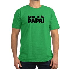 Soon To Be Papa! Men's Fitted T-Shirt (dark)