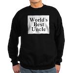 World's Best Uncle! Black Sweatshirt (dark)