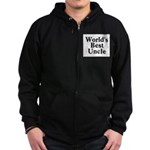 World's Best Uncle! Black Zip Hoodie (dark)