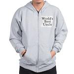 World's Best Uncle! Black Zip Hoodie