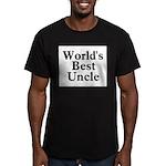 World's Best Uncle! Black Men's Fitted T-Shirt (da