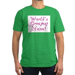 World's Greatest Nana! Men's Fitted T-Shirt (dark)