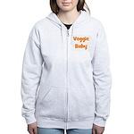 Veggie Baby Orange Women's Zip Hoodie