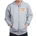 Veggie Baby Orange Zip Hoodie