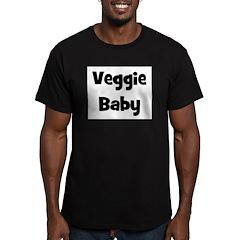 Veggie Baby Black Men's Fitted T-Shirt (dark)