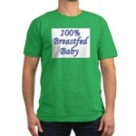 100% Breastfed Baby - Blue Men's Fitted T-Shirt (d