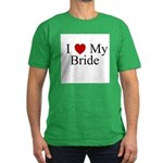 I (heart) My Bride Men's Fitted T-Shirt (dark)