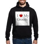 I (heart) My Groom Hoodie (dark)