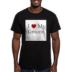 I (heart) My Groom Men's Fitted T-Shirt (dark)