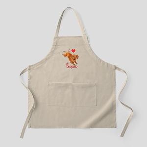 Love Doxie BBQ Apron