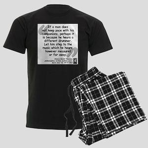 Thoreau Drummer Quote Pajamas