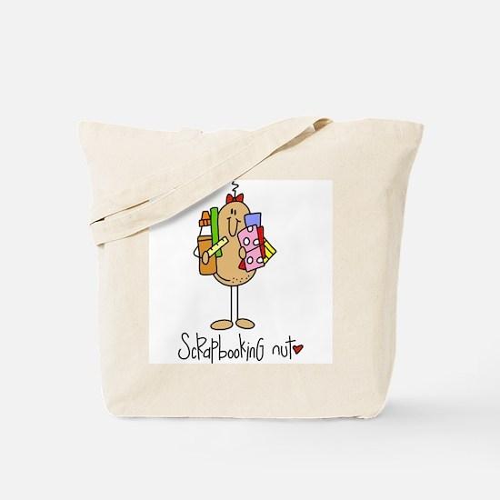 Scrapbooking Nut Tote Bag