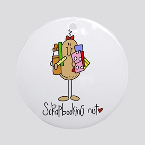 Scrapbooking Nut Ornament (Round)