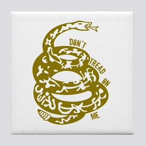 Dont Tread Snake Yellow Tile Coaster