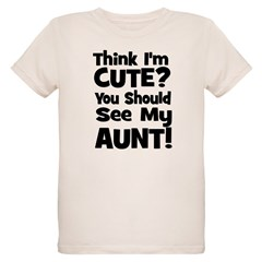 Think I'm Cute? Aunt - Black T-Shirt
