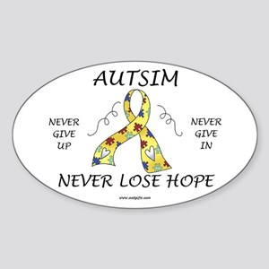 Autism Hope Oval Sticker