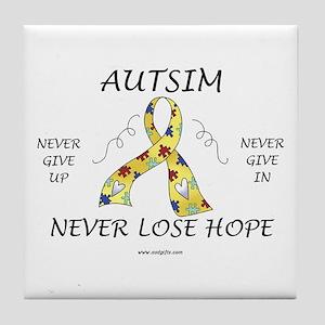 Autism Hope Tile Coaster