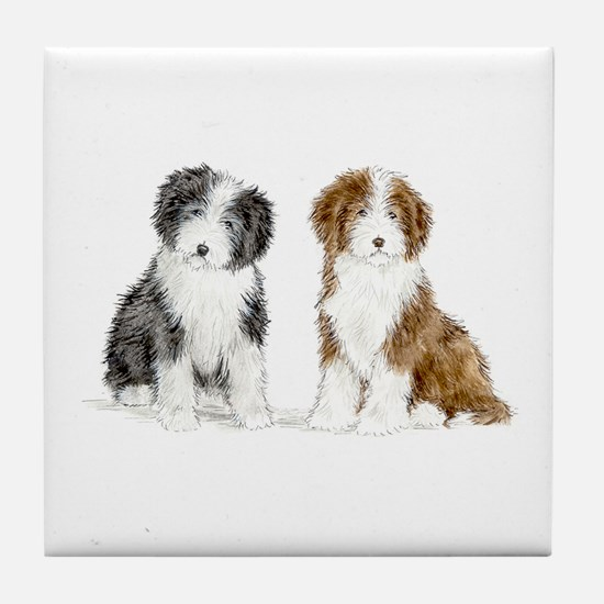Funny Pup Tile Coaster
