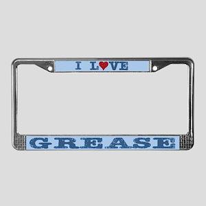 I Love Grease License Plate Frame