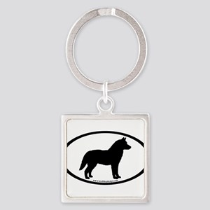 Siberian Husky Dog Oval Keychains