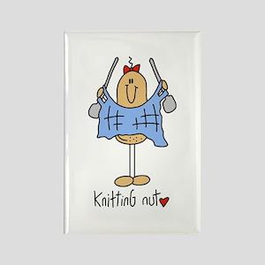 Knitting Nut Rectangle Magnet