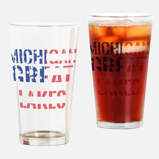 Funny Michigan state slogan Drinking Glass