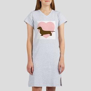 Dachshund Heart Ash Grey T-Shirt