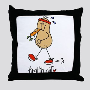 Health Nut Throw Pillow