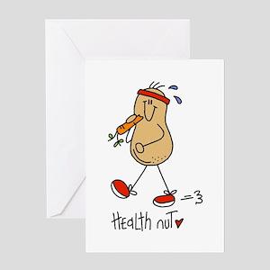 Health Nut Greeting Card