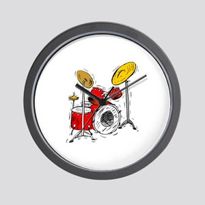DRUM SET (4) Wall Clock