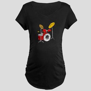 DRUM SET (4) Maternity Dark T-Shirt