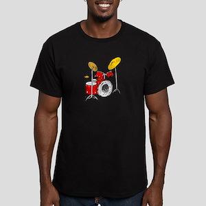 DRUM SET (4) Men's Fitted T-Shirt (dark)