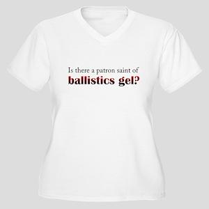 Ballistics Gel Women's Plus Size V-Neck T-Shirt