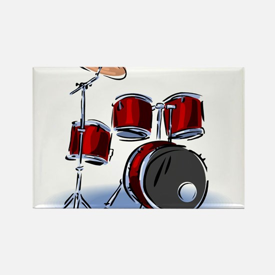 DRUM SET (5) Rectangle Magnet