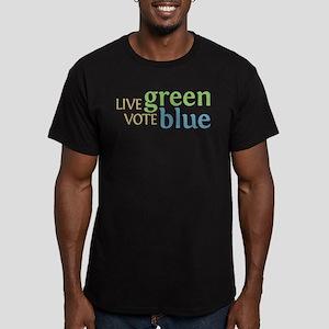 Live Green Vote Blue Men's Fitted T-Shirt (dark)