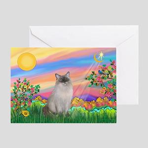 Day Star / Ragdoll Greeting Card