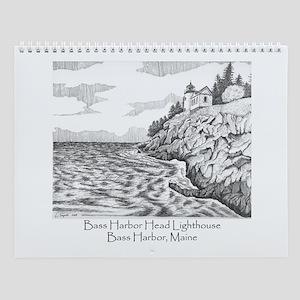Bass Harbor Head Lighthouse Wall Calendar