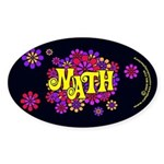 Mathadelic Lipstick Oval Sticker