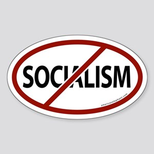 No Socialism Oval Sticker