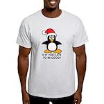 Cute Christmas Penguin Is it too lat Light T-Shirt