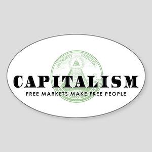 Capitalism Oval Sticker