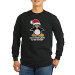 Cute Christmas Penguin Is Long Sleeve Dark T-Shirt