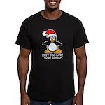 Cute Christmas Penguin Men's Fitted T-Shirt (dark)