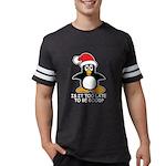 Cute Christmas Penguin Is it t Mens Football Shirt