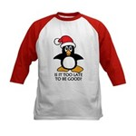 Cute Christmas Penguin Is it too Kids Baseball Tee