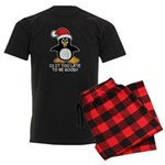 Cute Christmas Penguin Is it t Men's Dark Pajamas